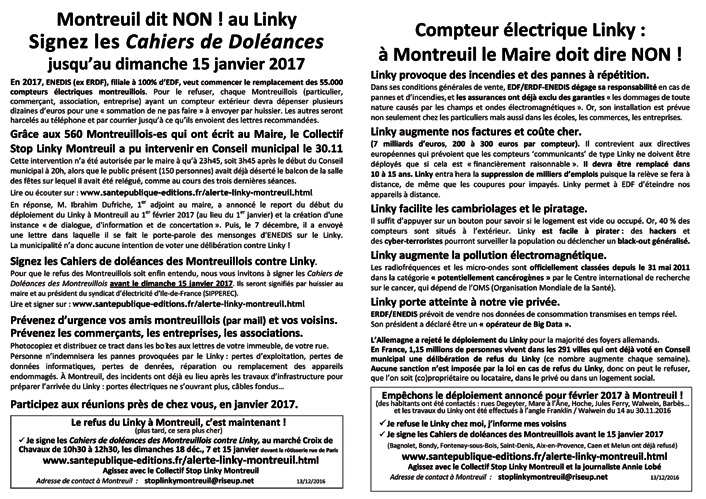 Flyer cahiers doleances Montreuil Linky 131216