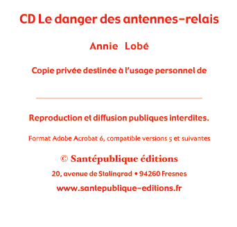 CD Le danger des antennes-relais